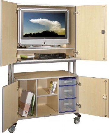 tv wagen mehrzweckwagen pr sentationsm bel medienm bel fernsehschrank multimediawagen schrank. Black Bedroom Furniture Sets. Home Design Ideas