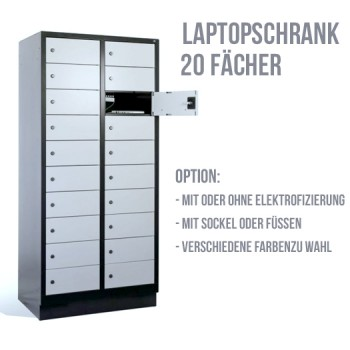 Laptopschrank Serie 3000 - 20 Fächer