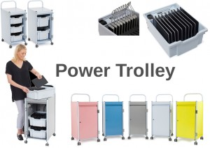 Tablet-Wagen / Power Trolley